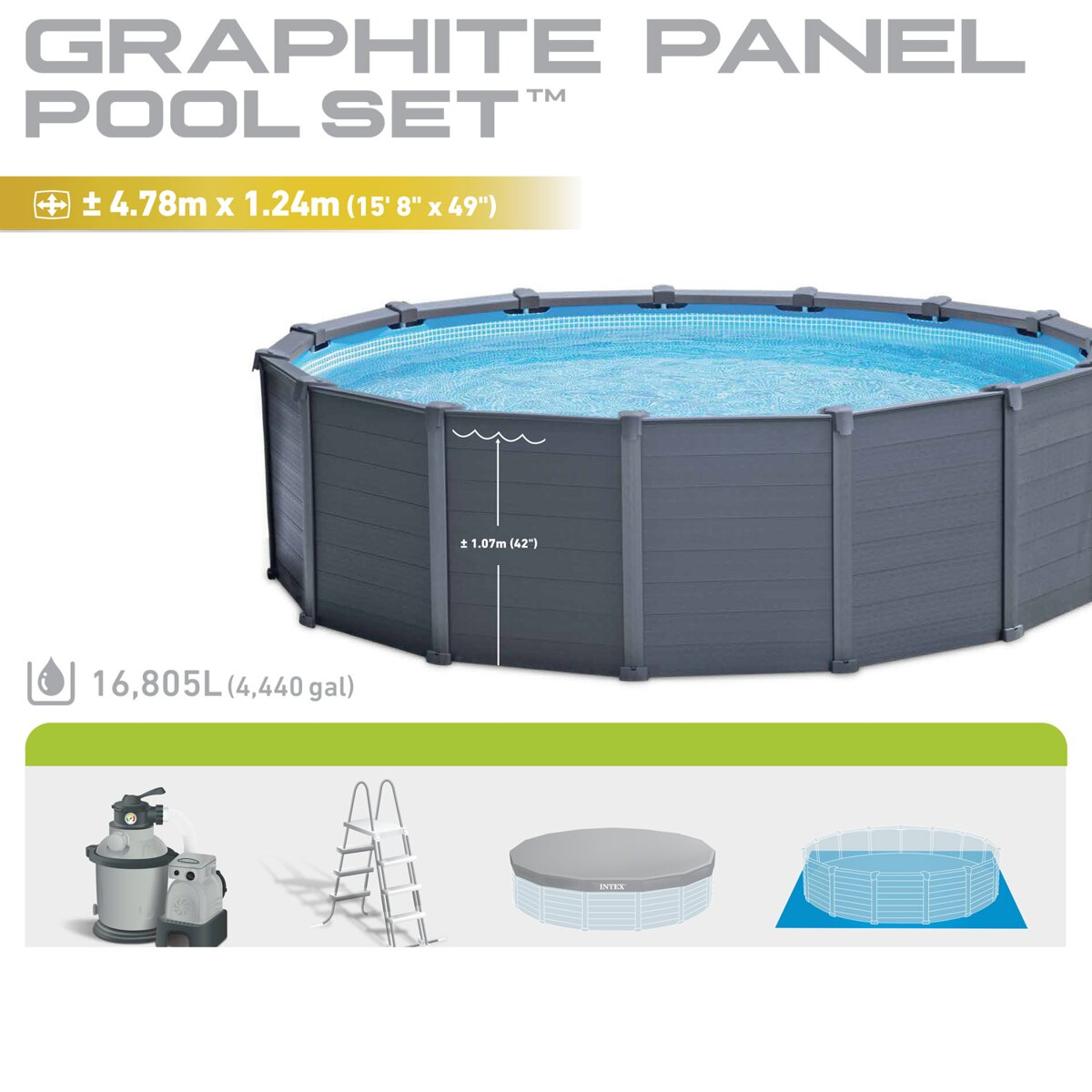 Baz n 478 124 cm for Hagebau intex pool
