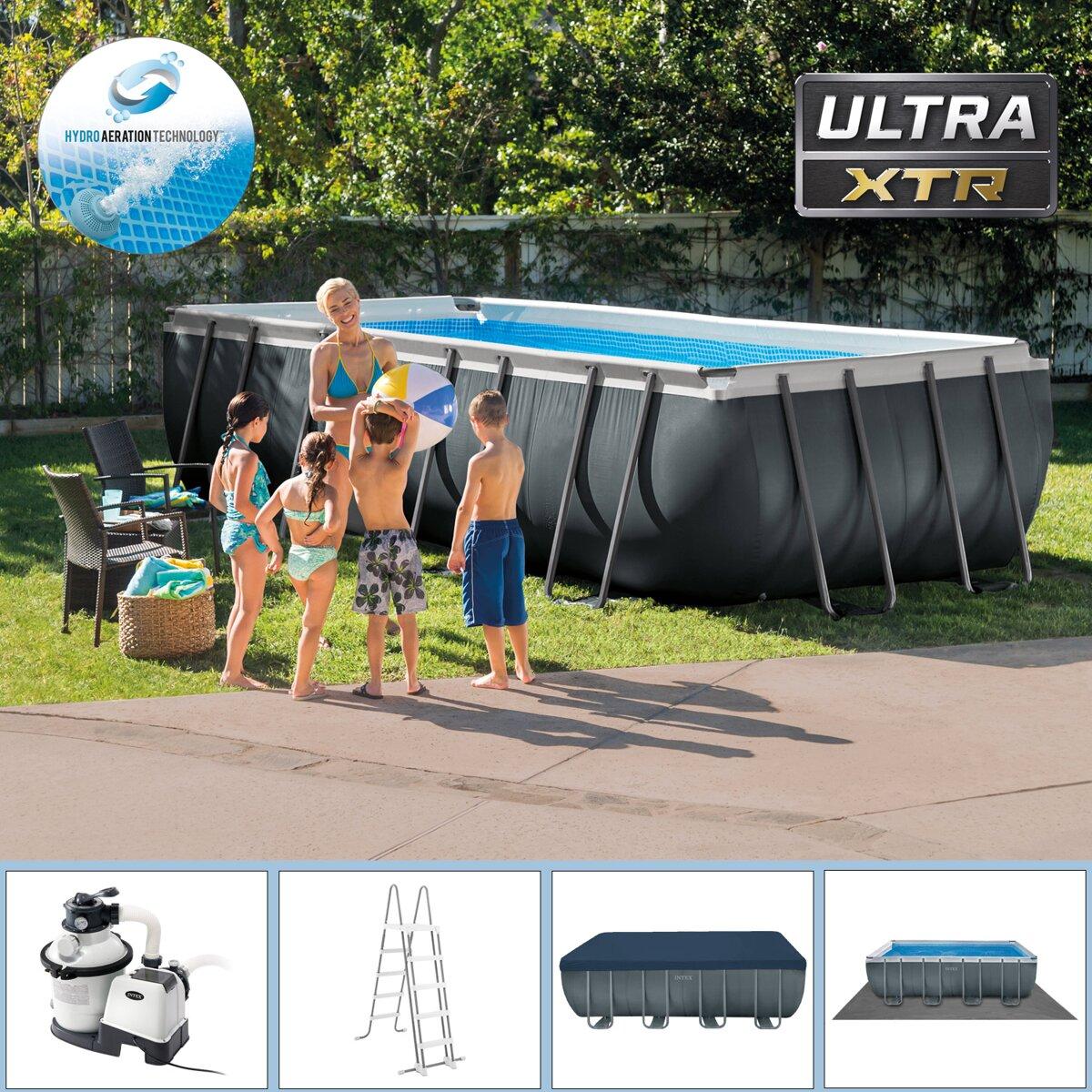 27ced121f7 Bazén Intex Ultra Quadra XTR 549 x 274 x 132 cm s pieskovou filtráciou