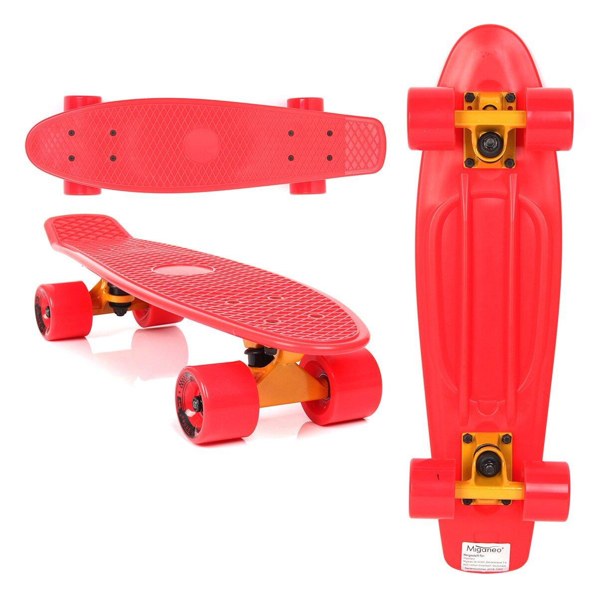 aca29dddaa6 Retro Skateboard Plastic červený