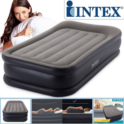 Nafukovacia posteľ Intex Deluxe Pillow Rest Raised Twin